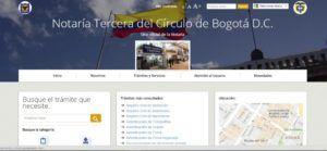 Notaria Tres de Bogotá