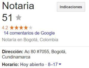 Notaria 51 de Bogotá