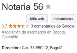Notaria 56 de Bogotá
