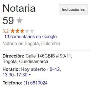 Notaria 59 de Bogotá