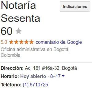 Notaria 60 de Bogotá