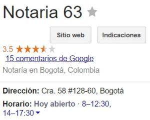 Notaria 63 de Bogotá