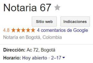 Notaria 67 de Bogotá