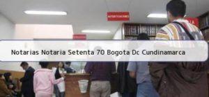 Notaria 70 de Bogotá