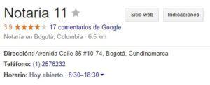 Notaria 11 de Bogotá