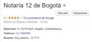 Notaria 12 de Bogotá
