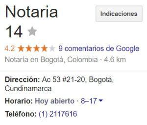 Notaria 14 de Bogotá