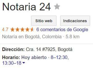 Notaria 24 de Bogotá