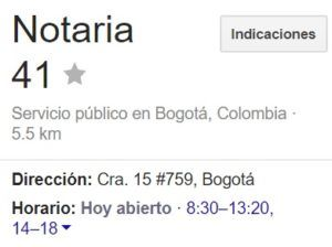 Notaria 41 de Bogotá