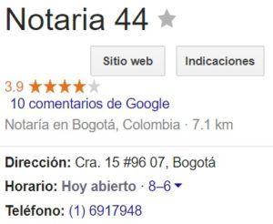Notaria 44 de Bogotá